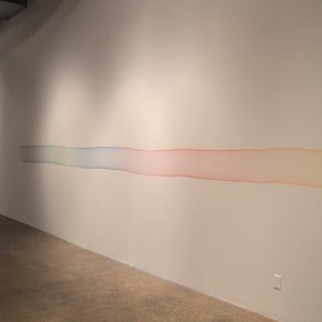 Eleanor King, Spinning Record,  coloured pencil on wall, 30.5 cm x 670.6 cm, 2012. Photo:Eleanor King, Courtesy of Diaz Contemporary, Toronto.