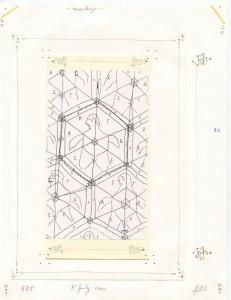 """John Devlin, """"monkeys,"""" July 8, 1995, 21.6 x 28 cm, multimedia on paper. Image courtesy of Galerie Christian Berst"""
