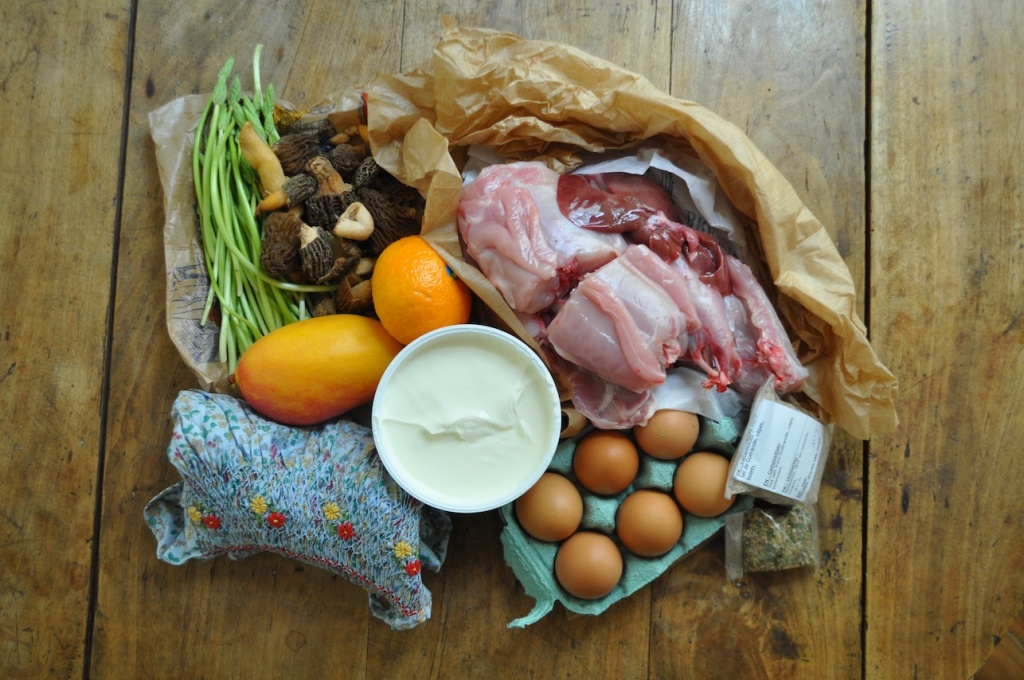 Food collected at a Parisian Farmers' market during Katie Belcher's residency at Cité Internationale des Arts in Paris, 2014. Image courtesy of the artist.