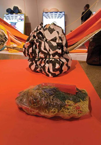 """Installation view of Séripop's """"The Face Stayed East , the Mouth Went West"""" at the Confederation Centre Art Gallery. Photo : Yannick Desranleau"""