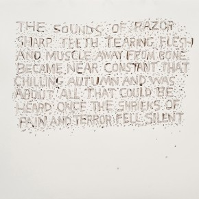 """Jerry Ropson, """"self titled (pain and terror),"""" ink on paper, 2009."""