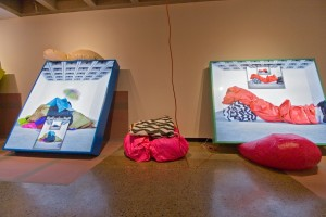 "Installation view of Séripop's ""The Face Stayed East , the Mouth Went West"" at the Confederation Centre Art Gallery. Photo : Yannick Desranleau"