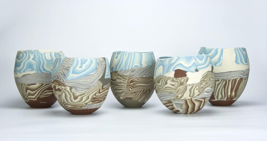 Isako Suzuki, Landscape, stoneware, ceramic stain, 2020, photo